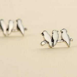 925 Sterling Silver Birds on a Branch Earrings